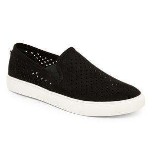 Steve Madden // Black Perforated Sneakers Size 9